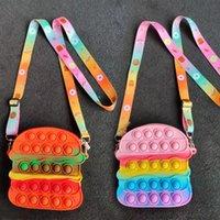 Fidget Bubble Bag Purses Kids Boy Girls Toy Smple Dimple Store Design Crossbody Fanny Pack Push Popper Sensory Puzzle Toys Early Leaning Education