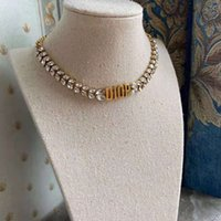 Modische Vintage-Stil-Weizen-Ohr-Choker-Halskette für Frauen-Set haben Zirkonia-Buchstaben-CD mit Originalverpackung