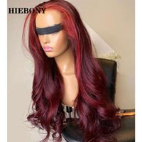 Highlight Red Lace Front Human Hair Wigs With Baby Brazilian...