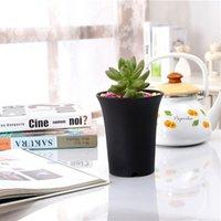 Plastik Yuvarlak Succulents Tencere Çiçekler Yetiştirmek Alt Nefes Saksı Çiçek Ekici Ev Succulents Doğurmak Bahçe Tencere 1404 V2