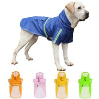 Spring Summer Pet Dog Raincoat Waterproof Snowproof Big Doggy Clothes Reflective Dogs Rainwear Pets Products