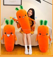 40cm Long carrot plush toy stuffed down cotton creative large pillow vegetable doll Children's favorite gift