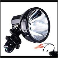 Solled عالية الطاقة زينون مصباح في الهواء الطلق يده الصيد الصيد مركبة H3 HID Searchlights 220W الفتق الأضواء C9PJU Flashlights Torc Imgzo