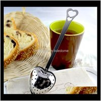 """Coffee Tools Drinkware Kitchen, Dining Bar Home & Garden Drop Delivery 2021 """"Tea Time"""" Heart Heart-Shaped Stainless Herbal Infuser Filter Tea"""
