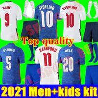2021 المنتخب الوطني لكرة القدم جيرسي الشباب الطفل كين الاسترليني راشفورد سانشو إنجلترا هندرسون 21 22 قمصان كرة القدم الرجال + أطفال مجموعات مجموعات الزي الرسمي