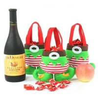 Christmas Santa Elf Spirit Boots Candy Gift Outdoor Party Ornaments Sack Children Treat Bag Tree Decoration Brand New Hot Sales Supplies