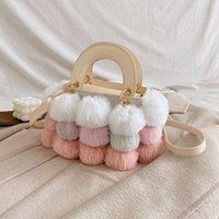 HBP Women Handbags Shoulder Bag Purse High Quality Fashion Fur Ball Decoration Hasp Removable Shoulder Strap