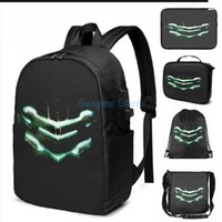 Funny Graphic Print Isaac Clarkes Helmet USB Charge Backpack Men School Bags Women Bag Travel Laptop