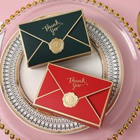 5pcs lot New Simple Creative Bronzing Gift Box Packaging Envelope Shape Wedding Candy Bags Birthday Party Cosmetic Packaging Box