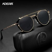 Luxury designer Sunglasses Retro Steampunk Round Clip On Men Women Double Layer Removable Lens Baroque Carved Legs Glasses With Box