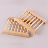 100Pcs Natural Bamboo Wooden Soap Dish Wooden Soap Tray Holder Storage Soap Rack Plate Box Container For Bath Shower Bathroom Fiudz 1970 V2