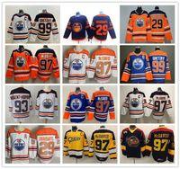 Edmonton Oilmers Revers Retro Connor McDavid Jersey 97 Üniversite Su Salonu Premier Hokeyi OHL 29 Leon Drisaitl Ryan Nugent-Hopkins Wayne Gretzky Klasik Vintage