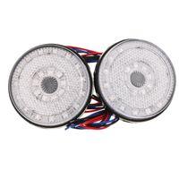 Автомобильные фары Доладность 24smd круглые задние фонари поверните сингл свет лампы ATV светодиодный отражатель