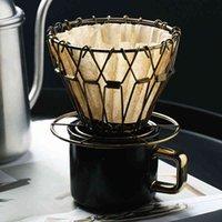 Drohoey القهوة الجريات طوي ذكي فلتر القهوة نمط القهوة مرشح التنقيط كوب المحمولة reusable paperless سكب أكثر من 210419