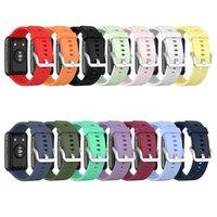 Soft Silicone Watchband Bind Band Remap Brap для Huawei Watch Fit Cit (TIA-B09 / TIA-B19)