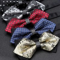 Mens Bowtie Quality Sale Necktie Fashion Formal Luxury Wedding Butterfly Cravat Ties for Men Shirt Business Gifts Accessories