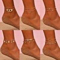 ANKLETS TRENDY TRANGE TRANCHE TRANCHARGE MORTOUCLANCE POUR LES FEMMES PUNK Arrow Coeur Star Chaîne Bracelets à la jambe Boho Beach Barefoot Bijoux Cadeaux