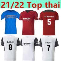 21 22 Valencia Futbol Forması Çocuklar Ev Uzakta 3rd Gameiro Florenzi Kırmızı Beyaz Camisetas De Futbol Rodrigo M.gomez Erkekler Jersey Kiti Futbol Gömlek
