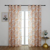 Curtain & Drapes Furnishing Textile Floral Window Living Room Bedroom Kids Furniture Cover Eyelets Home Decor D30