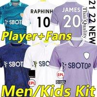 21/22 Leeds Tercer fútbol Jerseys United Fans Player Versión 2021 2022 Firpo James Harrison Hernandez Costa Bamford Phillips Raphinha Men Kit Kit Uniformes de fútbol