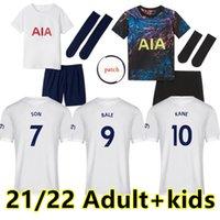 Tottenham 21 22 Kane Son Bergwijn Ndombele Futbol Formaları 2021 2022 Dele Jersey Futbol Gömlek Lo Celso Morgan Bale LaLela Lucas Yetişkin + Çocuk Çorap