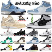 2021 New Dark Mocha Sail 1 1s Mens Basketball Shoes Guava Ice Black Cat 4 4s Tokyo Bio Hack twist Trainers Sports Sneakers