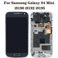 """ل Samsung Galaxy S4 لوحات لمسة صغيرة تستخدم لإصلاح الهاتف عرض نوعية جيدة الأصلي 4.3 """"i9190 i9192 i9195 الجمعية محول الأرقام استبدال شاشة LCD"""