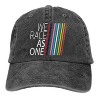 Adjustable Solid Color Baseball Cap We Race As One Washed Cotton Lando Norris F1 Formula 1 Sports Woman Hat