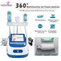 Çok İşlevli Yağ Dondurucu Makinesi 3 Kolları Kilo Kaybı Serin Vücut Cryolipolysis Donma Donma Zayıflama Ekipmanları
