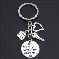 10PCACCEOOSRY REAKTOR Keychain Echtes Hauswarming Geschenk verkauft Haus Schlüsselanhänger mit Key Home Besitzer Schmuck