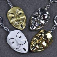 Novo em forma de V Vendetta Vendetta Máscara de Metal Keychain personalizado pingente de mochila