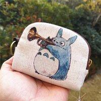 かわいいトトロキャンバスコイン財布シェル財布ファッションキリン動物キーポーチバッグクリエイティブミニチェッキング財布のための財布