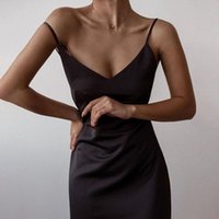Casual Dresses Sexy Spaghetti Strap Summer Dress 2021 Black Red White Slim Fashion Long Party Women Evening