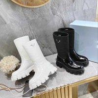 Дизайнер Monolith Boots Ankle Martin Shoes Военные вдохновленные боевые съемные колесные кожаные ботинки Высокая верхняя женская обувь мода резиновые пинетки