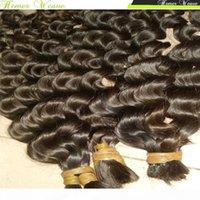 100% девственница индийская плетение вязание крючком сыпучих человеческих волос свободная глубокая волна вьющиеся 300 г лота полные сочки сестра купить много