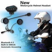 Headphones & Earphones BT12 Motorcycle Helmet Headset Bluetooth Intercom Hands-free Microphone Earphone