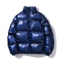 Parklees осень зима мужская металлическая повседневная пуховая куртка пальто стойки воротник Zip толстые теплые пузырьковые куртки Parka
