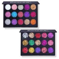 2021 Ins Stil 15 Renkler Elmas Parlak Göz Farı Renk Glitter Tozu Yüksek Parlak Göz Farı Paleti Makyaj Seti Bling Cmaadu