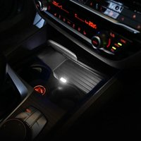 Car Cup Holder Storage Box USB Ambient Light Decorative For- E46 E90 E60 E39 F30 F10 F20 X5 G20 G30 Interior&External Lights