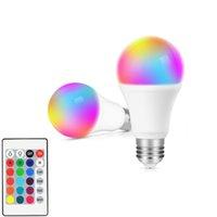 RGB أدى ضوء لمبة AC85-265V إضاءة مصباح الإضاءة الذكية تغيير لون عكس الضوء مع ir تحكم عن بعد 10W لمبة الذكية في المخزون