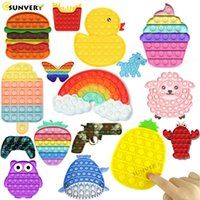 Animal Its It Push Fidget Toys for Children Kawaii Dimple Figet Toy Kids Antistress Bubble Best Birthday Gift 2021