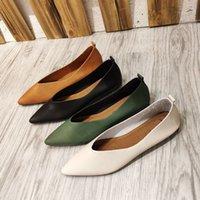 Xgravity 2021 nouveau printemps confortable dame chaussures plats pointus orteils plats plus taille femme femme chaussures confort femmes chaussures C3223