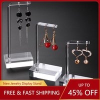 Jewelry Pouches, Bags 1 Set Clear Acrylic Hanging Earring Display Stand Showing Case Organizer Holder Jewellery Stands