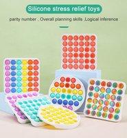 Descompresión empuje fidget fiesta favorito roedor pioneer juguete colorido absorias juguetes sensorios de arco iris burbuja ansiedad alivio de estrés material para niños niños