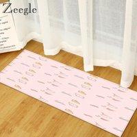 Carpets Zeegle Carpet Anti-slip Kitchen Rug Flannel Decoration Long Rectangle Living Room Absorbent Bedside Mat Floor