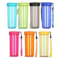 430ml Transparent Plastic Tumblers Cup Portable Leak-proof and Drop-proof Sports Handy Water Bottle Free Ship FHL458-WLL