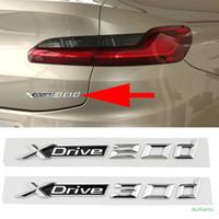 1-20 PCS XDrive 20D 30D 편지 엠블럼 자동차 리어 트렁크 펜더 스티커 BMW x2 x3 x5 x6 x7 E83 F25 F26 E70 m 성능