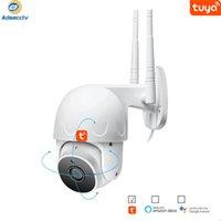 في الهواء الطلق IP WiFi Tuya PTZ كاميرا AI تتبع السيارات 1080P الأمن مصغرة سرعة قبة AS-TY-PTZ312H