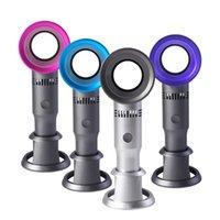 USB-wiederaufladbare tragbare Hand-Blebeleless-Lüfter 3-Gang-verstellbare Sommer-Luftkühlung-Desktop-Mini-elektrische Fans Gebläse