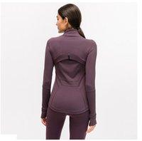 L-78 otoño invierno nueva cremallera chaqueta secadora rápida yoga ropa de manga larga pulgar agujero entrenamiento correr chaqueta mujeres delgado aptitud abrigo tamaño xxs-xl